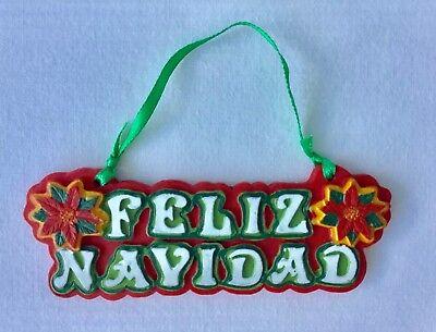 FELIZ NAVIDAD Christmas Ornament ()