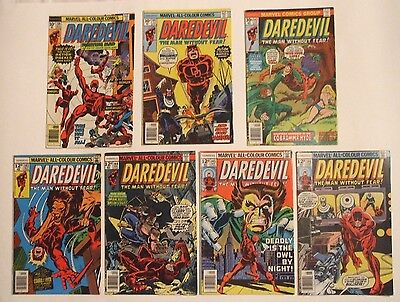 Marvel US Comics,Daredevil 139,141,142,143,144,145,146.Bullseye.Cobra, Mr Hyde.