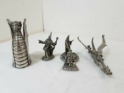 Pewter Wizards and Dragons Lot