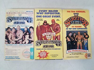 3x WWF Survivor Series 1st, 2nd, 3rd Annual On VHS DR - $43.00