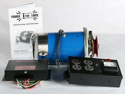 New Fabco Power Mite 110 Belt Driven Generator Kit W Control Box Voltage Regu