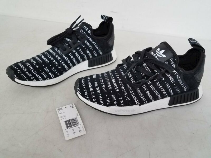 Adidas NMD Originals Black White Sneakers Men's Size 11.5
