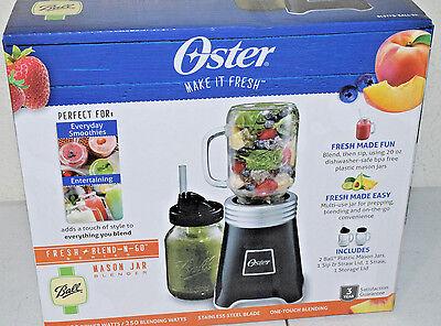 Oster Blend N Go Mason Jar Blender with 2-20 oz Plastic Jars Black BLSTPB-BALL