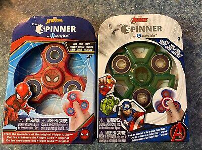 NEW Marvel Avengers Fidget Spinners Hulk & Spiderman Lot of 2 GIFT SET