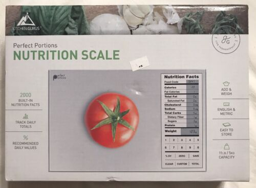 Perfect Portions Digital Scale with Nutrition Facts Display
