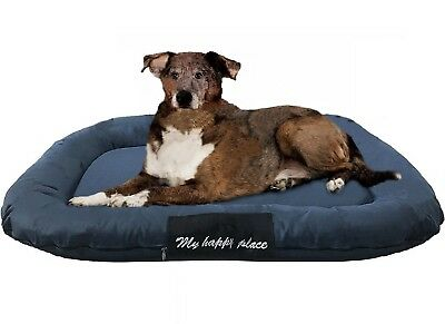 "XXL Extra Large Durable Bolster Pet Dog Bed Waterproof Oxford Cover 54""X37"" Gray"