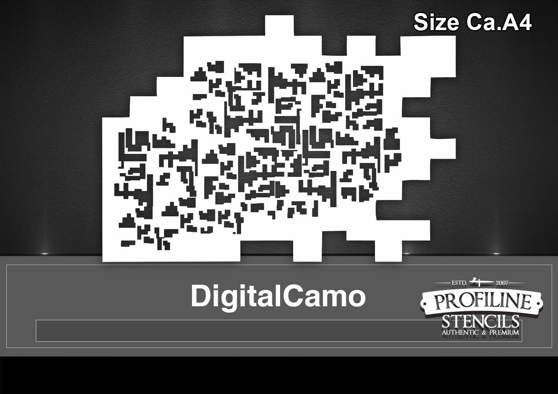 Camouflage Digital Effekt Airbrush Schablone  - Effects Structure Stencil