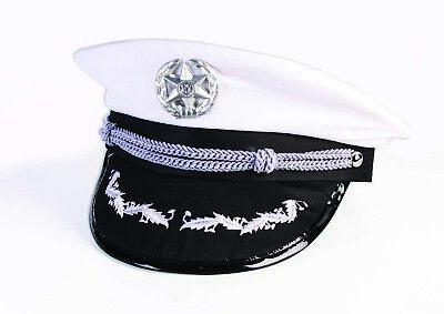 Forum Novelties Marineblau Offiziere Captain Hut Halloween Kostüm - Weißer Offizier Hut