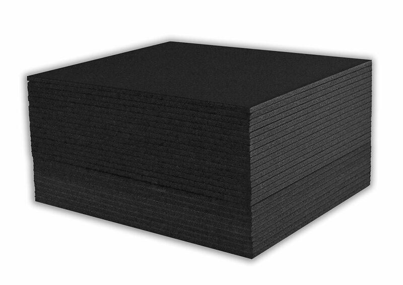 "Mat Board Center, Pack of 50 8x10 3/16"" BLACK Foam Core Backing Boards"