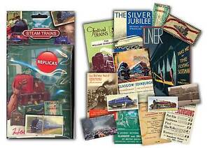 Steam Train Memorabilia Gift Pack with over 20 pieces of Replica Artwork - OLD
