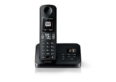 Philips D6051 Landline Cordless Home Phone with Answering Ma