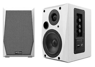 Wiibo Neo 50 White Altavoces Estantería Bluetooth Activos 50W. Pareja