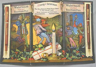 Waterman's Fountain Pens Sales Brochure - c.1920 - Original Color Lithograph USA