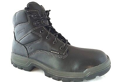 Wolverine W08141 Men's Stratus Black Leather Soft Toe Work Boots SZ 9 EW
