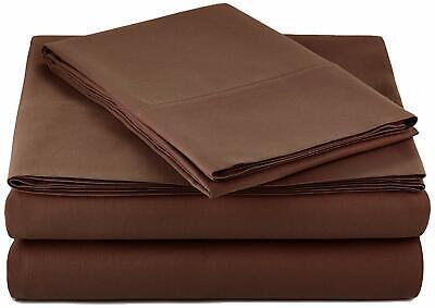 Microfiber Sheet Pillowcase Set Home Bedding  Twin XL, Choco