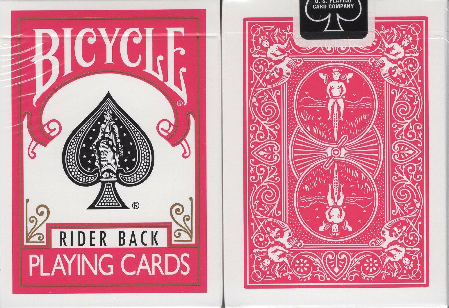 Fuchsia Rider Back Bicycle Playing Cards Poker Size Deck USPCC Pink Limited New