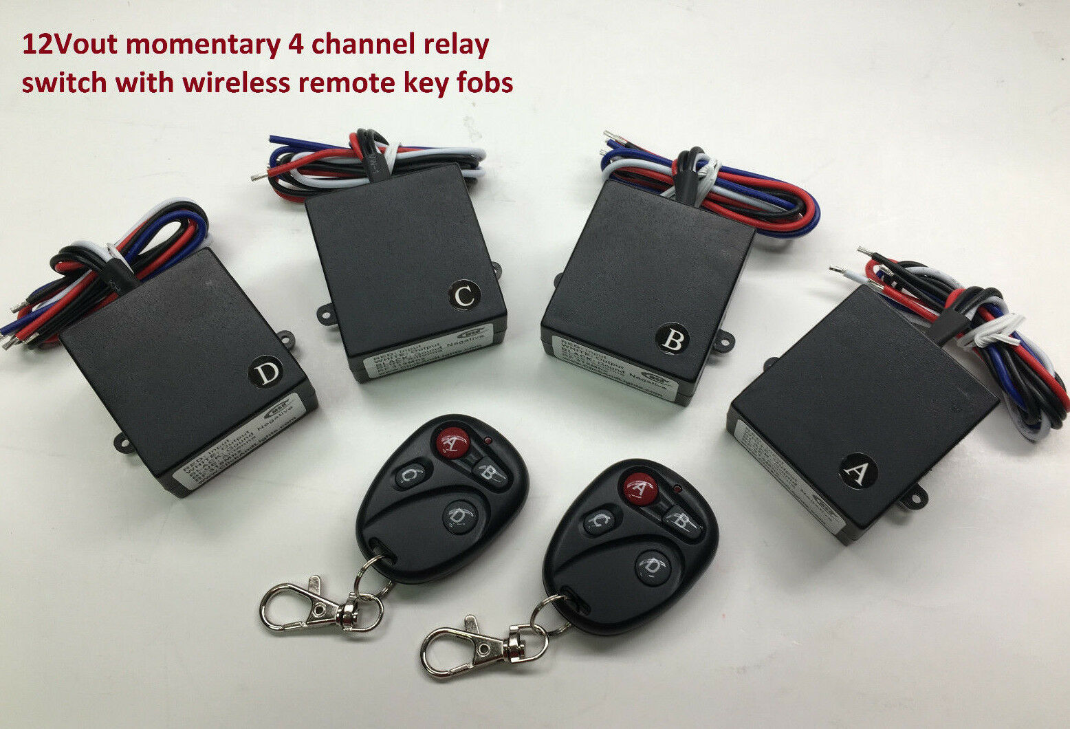 12v 4 Channels Momentary Relay Remote Control Switch Wire...