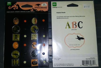 Various scrapbooking/card making items