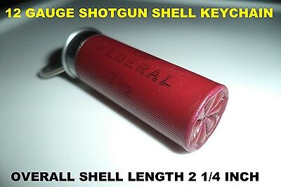 12 GAUGE SHOTGUN SHELL / BULLET KEYCHAIN