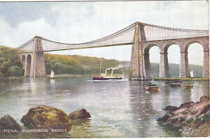 Artist Drawn, Suspension Bridge, MENAI STRAITS, Isle Of Anglesey