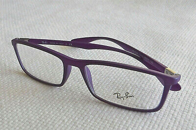 Nwot Ray-ban Lila Brille mit / Klar Demo Linse Modell RB7048-5443/53-17-145