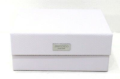 JIMMY CHOO PARFUMS PALE PINK / WHITE SHOE BOX / VANITY CASE  *NEW