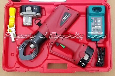 Burndy Pat644xt Hydraulic Battery Operated Crimper Dieless Crimping Tool 12 Ton