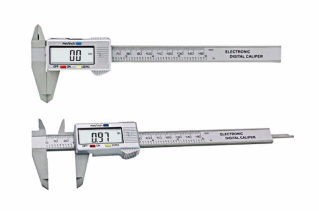 6inch LCD 150mm Digital Electronic Carbon Fiber Vernier Caliper Micrometer Grey