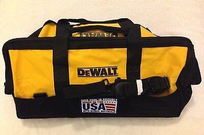 """New Dewalt Tool Bag Heavy Duty Ballistic Nylon 24"""" x 12"""" x 14"""" Made in the USA"""