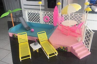 Vintage Mattel Barbie Doll Tropical Pool & Patio Set Playset 1986