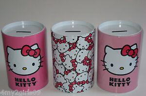 HELLO-KITTY-Piggy-Bank-Coin-Jewelry-Tin-Money-Jar-Container-Saving-Box-Case-NEW