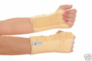 Cream-Neoprene-Wrist-Brace-rsi-support-metal-stay-all-sizesTEMP-REDUCED-PRICE