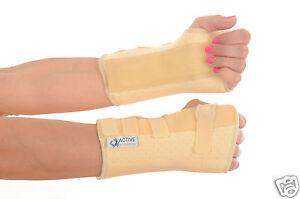 Cream-Neoprene-Wrist-Brace-rsi-support-metal-stay-all-sizesTEMP-REDUCED-PRICE