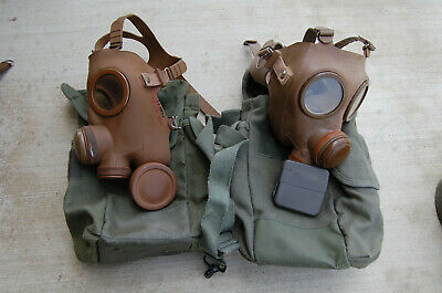 French 40mm Nato Cbrn Gas Mask  Anp-5153 French M53 Size Standard