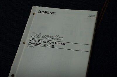 Caterpillar 973c Track Loader Hydraulic Schematic Manual Diagram Drawing Service