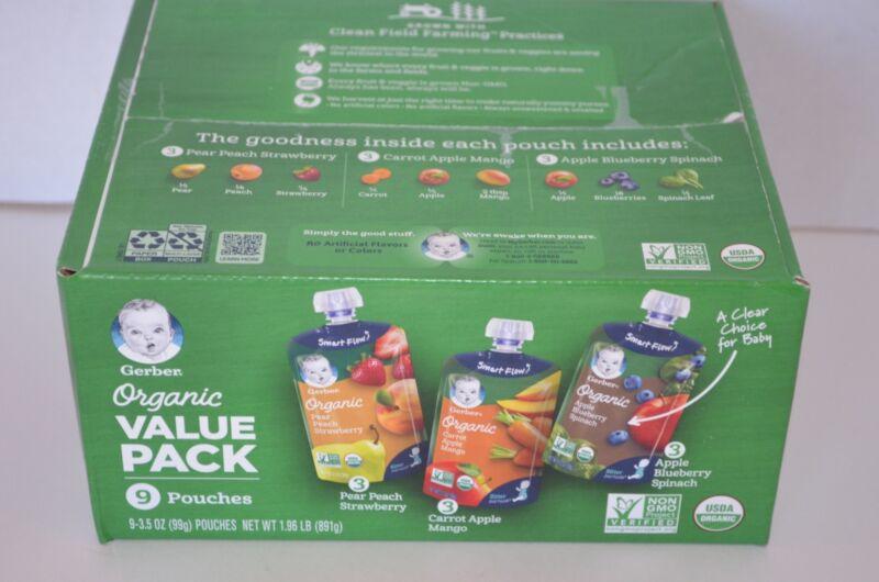 Gerber Organic 2nd Foods, Fruit & Veggie Variety Pack Pureed Baby Food (9 - 3...