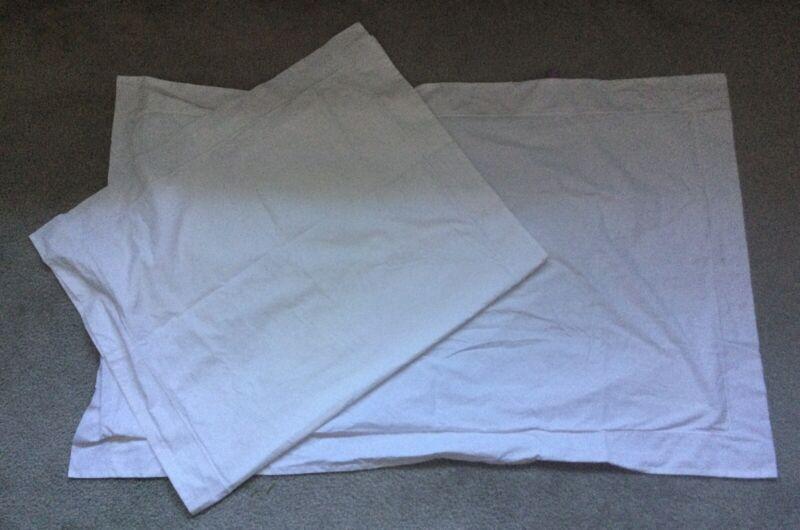 Frette ~Set Of 2 White KING size Pillow Shams~Gorgeous Quality Italian Linens