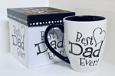 Best Dad Ever Ceramic Coffee Mug With Gift Box 18 ounces Cypress Home Brand