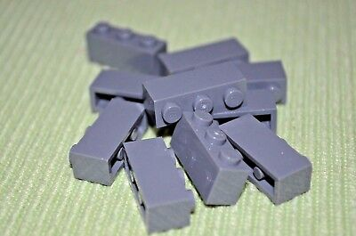 (10) 1x3 Dark Gray Standard Bricks ~  Lego ~ NEW ~ Castle