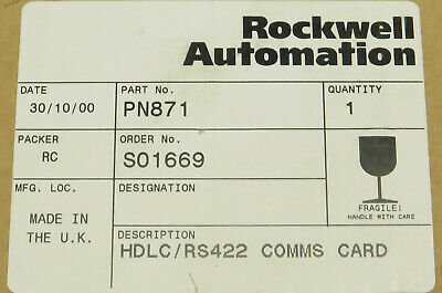 Rockwell Automation Pn871 Hdlc Rs422 Comms Card