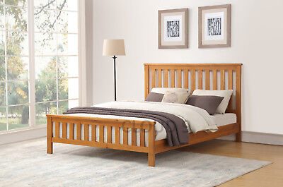 Rustic Oak Wooden Bedframe Available in 4ft6 or 5ft  - STOCK CLEARANCE PRICES!