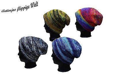Wolle Beanie (Bunte Wollmütze Beanie Warme Mütze Kopfbedeckung Hippie Nepal Wollmütze Winter)