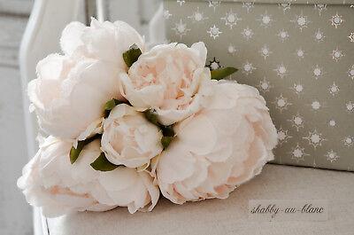 Rose Eisrose Kunstblumen Seidenblumen Rosé Strauß vereist Glitzer Shabby Chic - Rose Eis