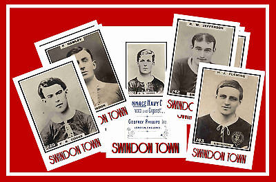 SWINDON TOWN  - RETRO 1920's STYLE - NEW COLLECTORS POSTCARD SET