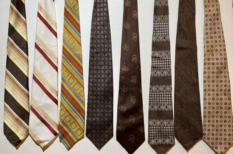 Lot Of 16 Vintage 1970's Wide Men's Neck Ties