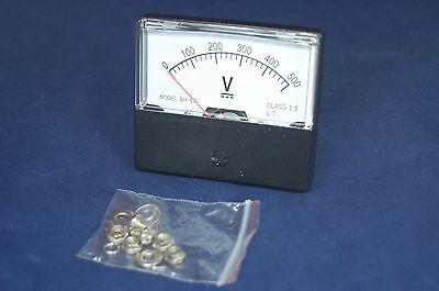1pc Dc 0-500v Analog Voltmeter Analogue Voltage Panel Meter 6070mm