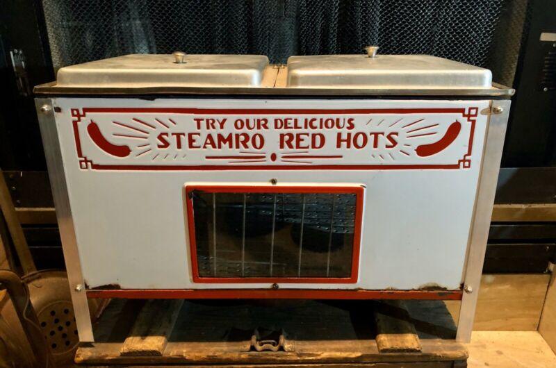 Vintage Steamro Red Hots Hotdog Steamer