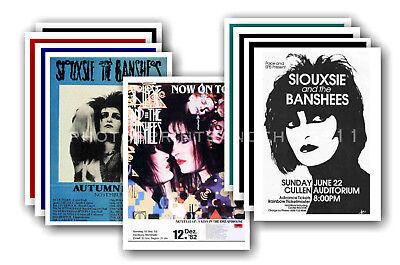 SIOUXSIE & THE BANSHEES - 10 promotional posters  collectable postcard set # 1