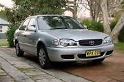 Well maintained (Logbook) 2000 Toyota Corolla Conquest Sedan Chatswood Willoughby Area Preview