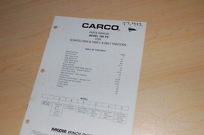 Komatsu D65e D68e D83 Tractor Carco 70a-ps Winch Parts Manual Book Dozer Crawler